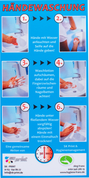 Aufkleber Händewaschen